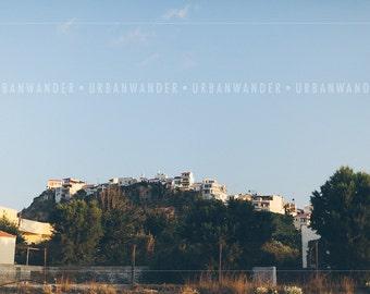 Greece Photography Canvas: Greece Hillside