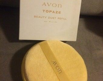 Vintage Avon Topaze Beauty Dust Refill New in Box