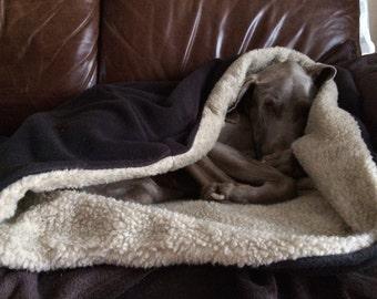 Dog Snuggle Pod. Dog Bed/Blanket in one