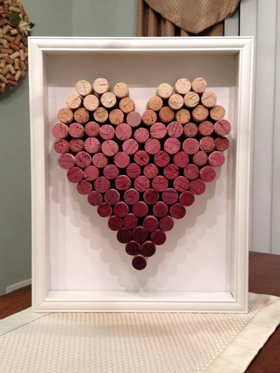wine cork ideas crafts ombre wine cork shadowbox by burgundyribbondesign on 5726