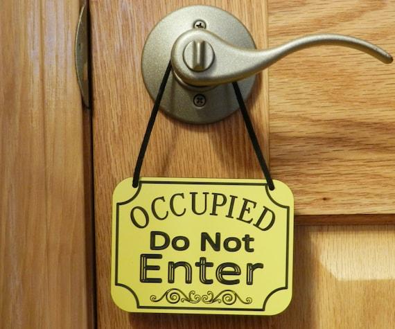 Occupied Do Not Enter Sign Door Knob Sign Door Hanging Sign