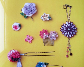 Beginners to intermediate - Traditional Japanese Flower Folding Kanzashi Hair Accessories to Ornaments_Ebook_PDF_06