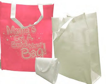 CUSTOM Foldable Shopping Bag CLEARANCE