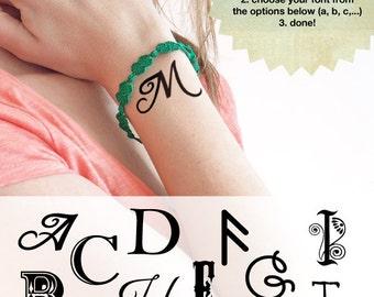 Initial - Custom Temporary Tattoos (Set of 2)