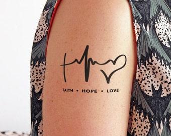 hope tattoo etsy. Black Bedroom Furniture Sets. Home Design Ideas