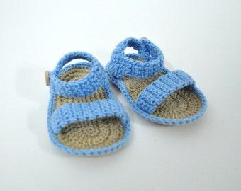 Handmade baby crochet sandals.