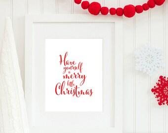 Merry Little Christmas Print