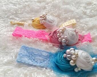 Spring rosette headband