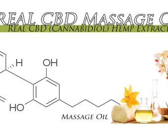 4 Ounces Ancient Recipe High CBD Massage Oil  Soothing Relief