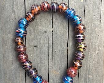 Swirly Glass Beaded Bracelet