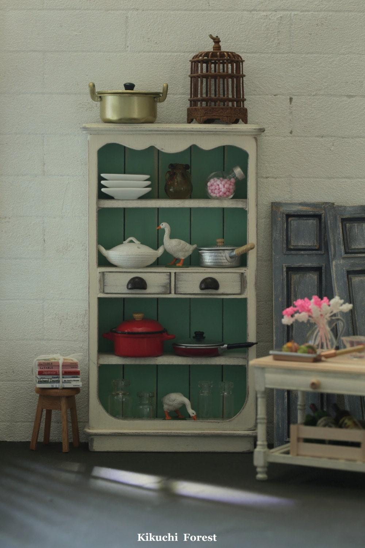Handmade Dollhouse Furniture Kitchen Kitchen Cabinet