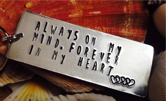 Always on my mind forever in my heart by InfinityKeepsakes