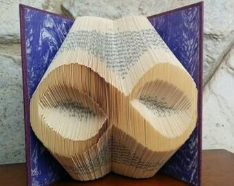 Infinity - Folded Book Art - Fully Customizable, symbol forever