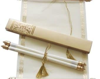Reserved order for Cindy Jordan -1 SAMPLE wedding scroll invitations