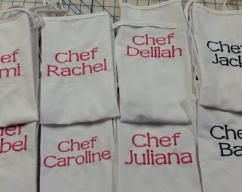Party favor aprons. Painting or cooking party !