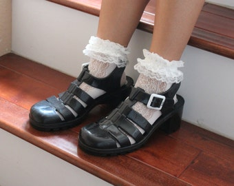 Cute Lace Mesh Ruffle Frilly Socks for Adults