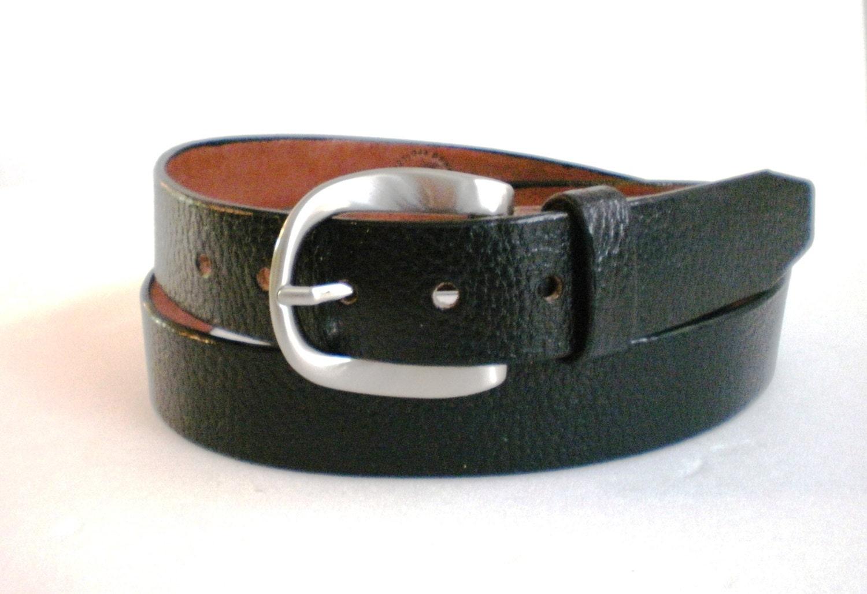 leather belt 1 5 black buffalo grain veg heavy duty by