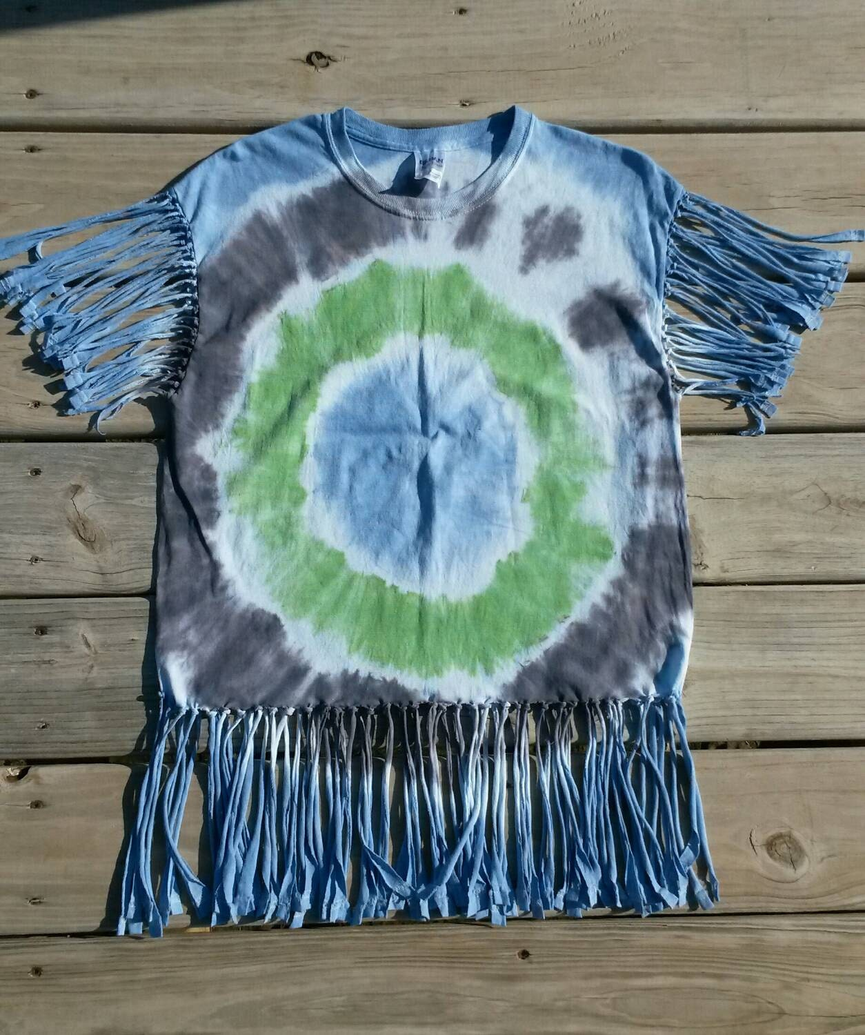 tie dye shirt fringe tie dye shirt blue by messymommastiedyes