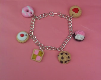 Biscuit And Cake Lovers Charm Bracelet.