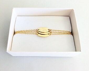 Set of 3 Personalized Bracelet - Minimal bracelet - Dainty Personalized bracelet - Friendship bracelet - Bridesmaid gifts - Gift Ideas