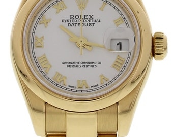 Ladies 18k Yellow Gold President Rolex Datejust 179168