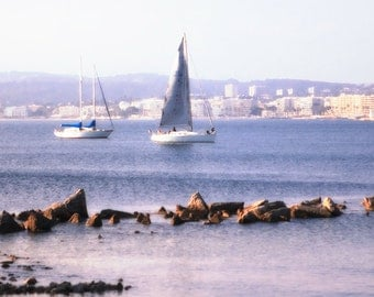 Cannes, France Sailboats. Photographic print 8x10, 11x14