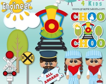 When I grow up Engineer Digital Clipart - Clip art for scrapbooking, party invitations - Instant Download Clipart Commercial Use