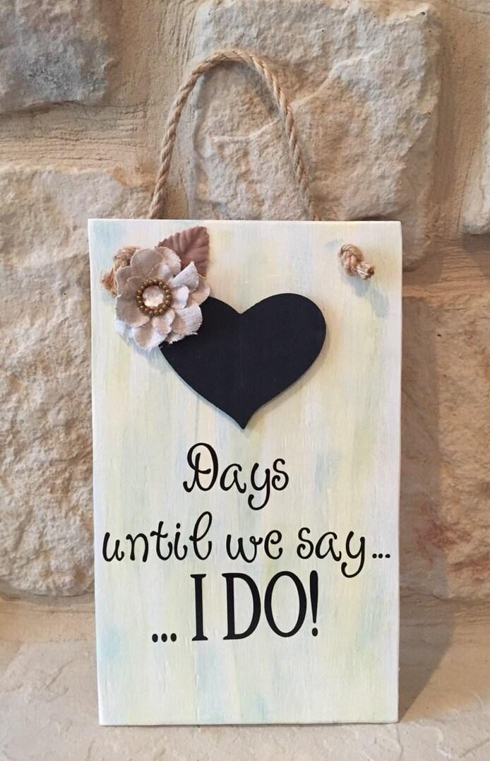 Countdown To Wedding Gifts: Wedding Chalkboard Countdown Bridal Shower Or Wedding Gift For