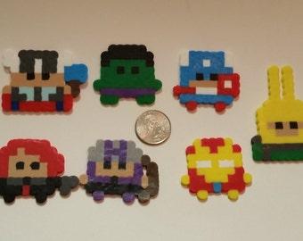 Marvel Superheroes Mini Perler Bead Characters