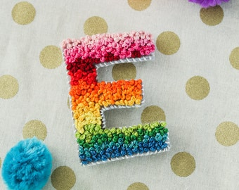 Multicolor French Knot Custom Monogram