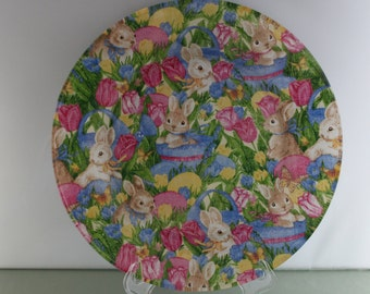 Decorative Easter Bunny Plate