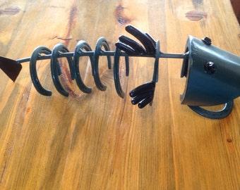 Fish made of horseshoes