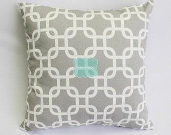 Pillow Cover - Premier Prints - GOTCHA - Storm Grey White - Home Decor Sofa Throw Pillow-Cover with Zipper Enclosure - All Sizes