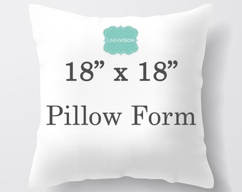 Pillow Insert - 18 x 18 inch Pillow Form - Decorative Pillow Cover Filler - Fiberfill Stuffing - Square Pillow Cover Insert Throw Pillows