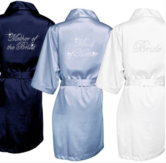 Items Similar To Set Of 7 Custom Bridal Party Robes On Etsy