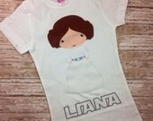 Star Wars Inspired / Princess Leia Inspired /  Personalized Tshirt or Onesie