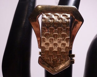 Gold Buckle Ring