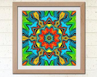 Printable Wall Decor, Geometric Art 7.5 x 7.5 inch Instant Download, Digital Art Image, Tribal Wall Art