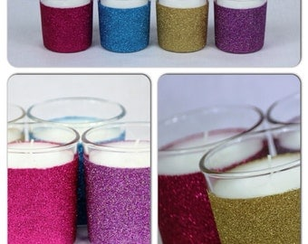 Glitter scented candles x 4