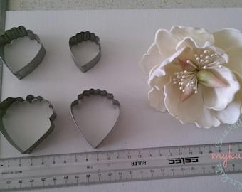 Big Peony Flower Metal Cutter 4 pcs/set