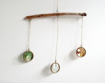 Suncatcher, Driftwood Suncatcher, Seaglass Suncatcher, Nautical Decor, Window Decor, Beach Glass, Brass Suncatcher, Seaglass Mobile