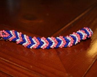 Beaded Chevron Bracelet