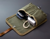 Messenger bag canvas. Military bag pouch. Army canvas bag. Vintage army bag. Russian or Polish bag army. school bag. military accessory bag.