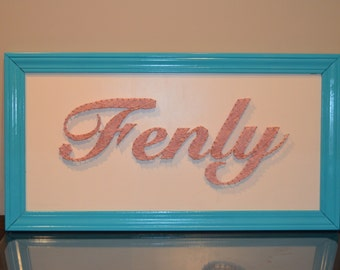Made-to-Order String Art Names