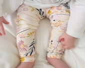 Baby Leggings, Hipster Baby Leggings, Unisex Baby Pants - Floral Leggings