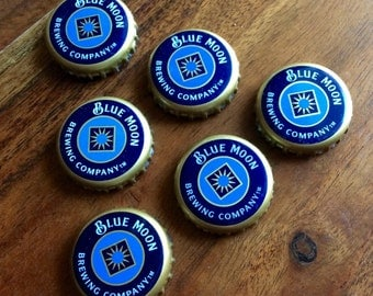 Blue Moon Beer Cap Magnets