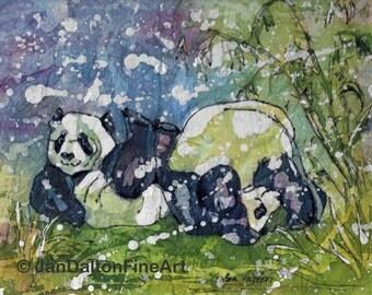 Pandas At Play Batik