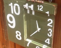 Knock-Knock Clock by Bad Knee Salvage Recycled/Repurposed