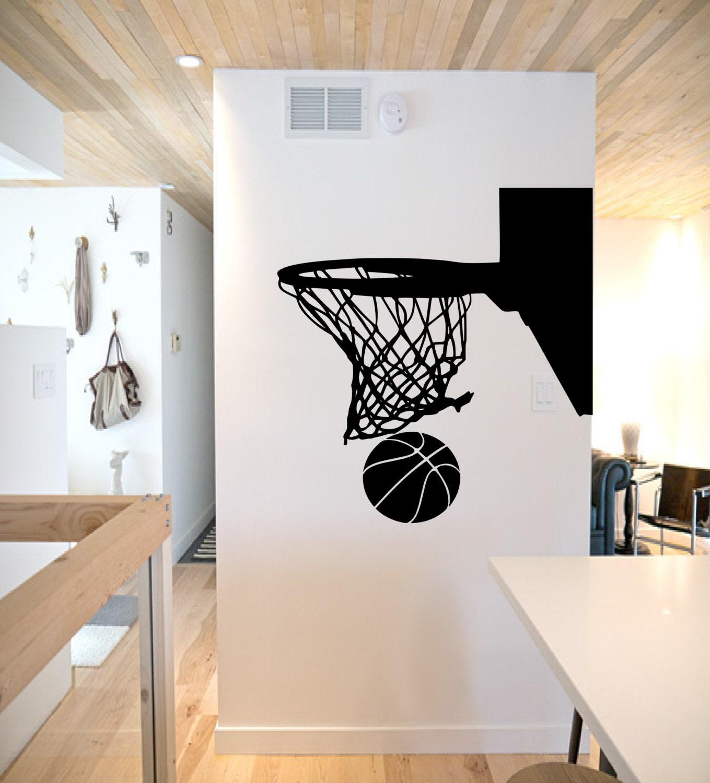 Basketball Hoop Wall Decal Basketball Wall Decor Basketball