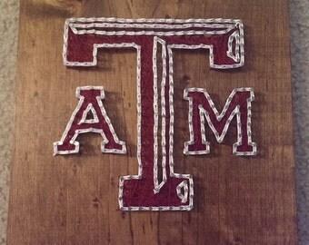 Texas A&M Nail and String Art